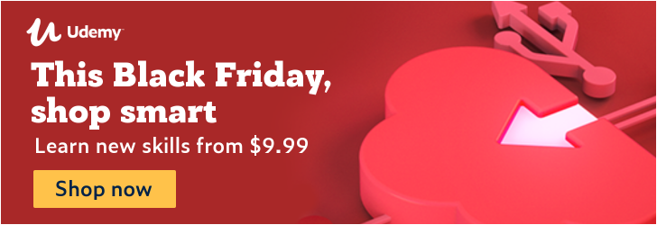 udemy black friday 2019 deal $9.99 courses