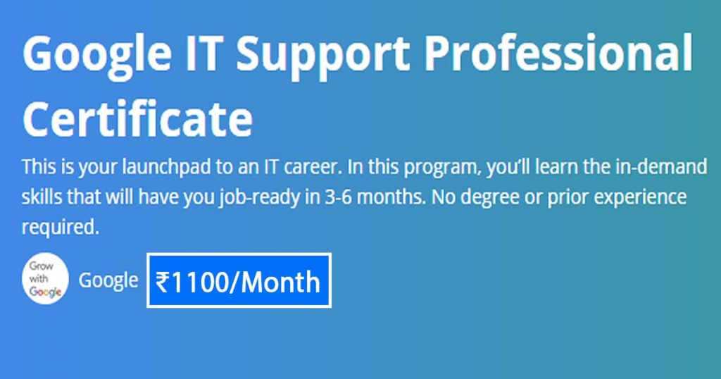 google-it-support-pro-coursera-india